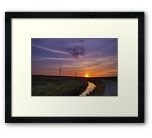 Sunset pylon Framed Print