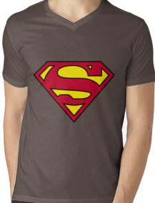 superman Mens V-Neck T-Shirt