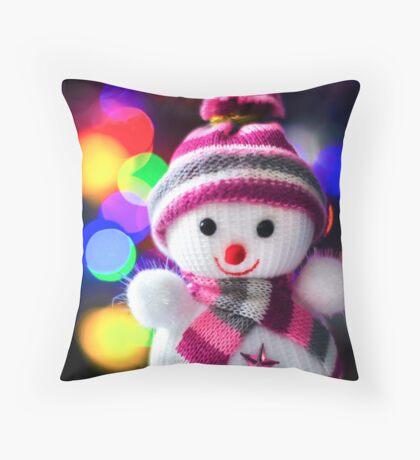 Snowman Toy Throw Pillow