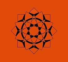 Mandala #215  ||  Orange by RedBookJournals
