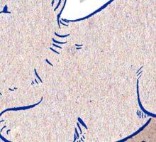 Corgi Fun - blue and brown Sticker