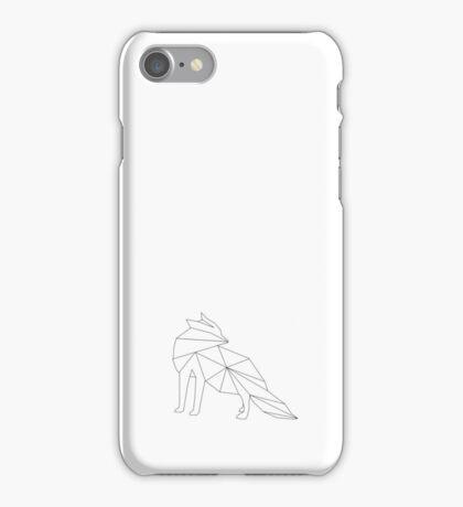 Fuchs Grafik stilistisch schwarz weiß iPhone Case/Skin