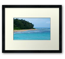 Loan Swimmer Framed Print
