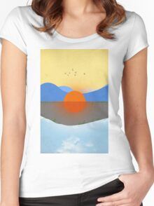 KAUAI No Text Women's Fitted Scoop T-Shirt