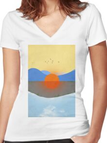 KAUAI No Text Women's Fitted V-Neck T-Shirt