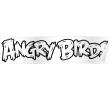 Angry Birds Logo Poster