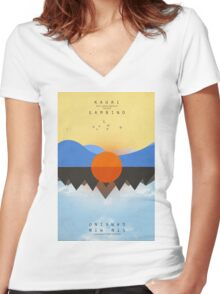 KAUAI Chained Women's Fitted V-Neck T-Shirt