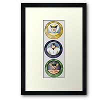 Birdman, Space Ghost & Mighty Mightor Framed Print