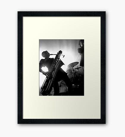 Girl Sax Framed Print