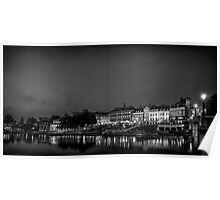 Richmond By The River, London, UK in BW Poster