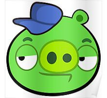 """Angry Birds """"Green Pig"""" Poster"""