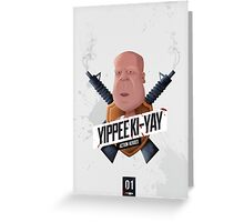 Yippee Ki Yay Modern Greeting Card