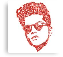 bruno mars typhography Canvas Print