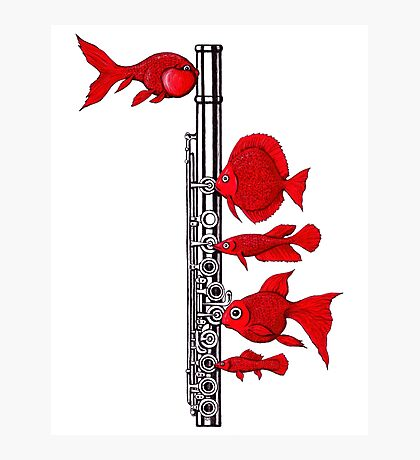 Fish and Flute Photographic Print