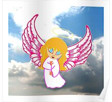 A Child Angel in Clouds Poster