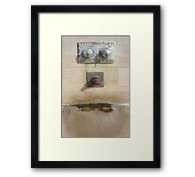 Abstract - Face - Just goofing off Framed Print