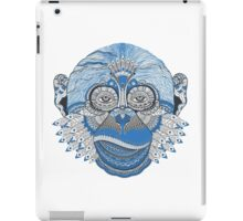 Blue Psychedelic Soul Stare iPad Case/Skin