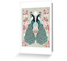 Peacocks by Andrea Lauren  Greeting Card