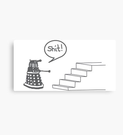 Shit Dalek Canvas Print