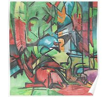 Franz Marc Study - Deer in the Forest Poster