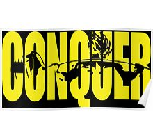 CONQUER. - Saiyan Back Squat ICONIC (Yellow) Poster
