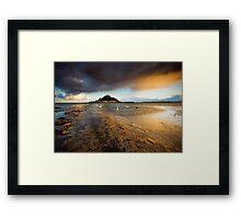 Cornwall - Golden St. Michael's Mount Framed Print