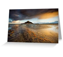 Cornwall - Golden St. Michael's Mount Greeting Card