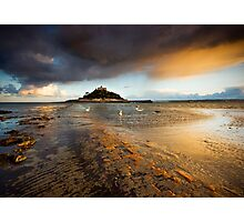 Cornwall - Golden St. Michael's Mount Photographic Print