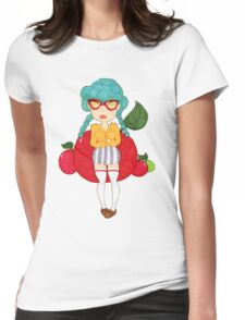 Miss apple Womens Fitted T-Shirt