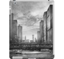 City - Chicago, IL - Looking toward the future - BW iPad Case/Skin