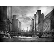 City - Chicago, IL - Looking toward the future - BW Photographic Print
