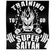 Training To Go Super Saiyan (Vegeta) Poster