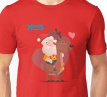 Santa and Rudolph Unisex T-Shirt