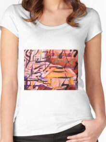 rural sounds......a kind of natural language Women's Fitted Scoop T-Shirt