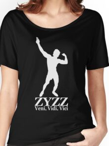 Zyzz Silhouette Veni, Vidi, Vici White Women's Relaxed Fit T-Shirt