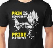 Pain Is Temporary, Pride Is Forever (Vegeta Hardcore Squat) Unisex T-Shirt