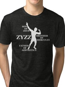 Zyzz Son of Zeus White Tri-blend T-Shirt