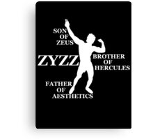 Zyzz Son of Zeus White Canvas Print