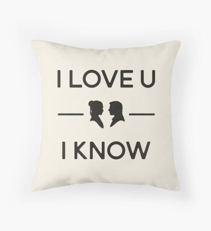 Star Wars - I Love You, I Know (Black) Throw Pillow