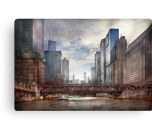 City - Chicago, IL - Looking toward the future  Canvas Print