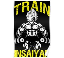TRAIN INSAIYAN - Vegeta Holding Dumbbells Poster