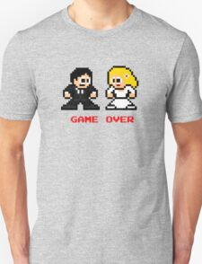 8-bit Bride and Groom-Gave Over T-Shirt