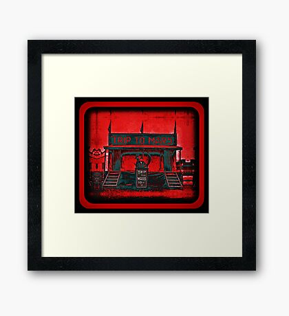 day trip to mars or night voyage to venus Framed Print
