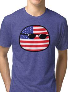 Polandball - USA Big Tri-blend T-Shirt
