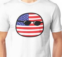 Polandball - USA Big Unisex T-Shirt