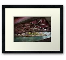 City - Chicago, IL - Underneath the William P Fahey Bridge  Framed Print
