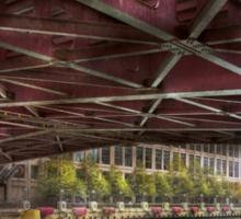 City - Chicago, IL - Underneath the William P Fahey Bridge  Sticker