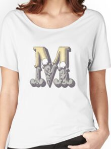 Alphabet letter M Women's Relaxed Fit T-Shirt