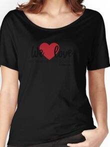 1 John 4:19 – We love because he first loved us T-Shirt [w/reference] Women's Relaxed Fit T-Shirt
