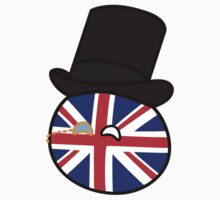 Polandball - Great Britain Big Kids Tee